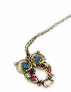 Collar Vintage Baby Owl súper baratísimo #mothersday #madre