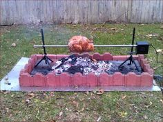 Roast Just About Anything In Your Backyard on a Homemade Spit