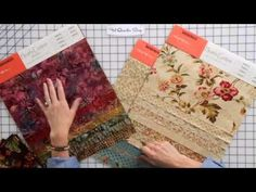 ▶ How to Mix and Match Batiks and Cotton Prints in Quilting by Edyta Sitar -- Fat Quarter Shop - YouTube
