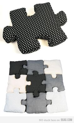 Pillow Puzzle @Amanda Marken, you know im gonna tell you about ALL the puzzle piece things i find.. lol <3