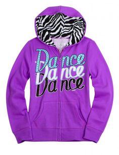 Zebra sports fleece sweatshirt girls sweatshirts clothes shop justice on wa Dance Outfits, Sport Outfits, Girl Outfits, Cute Outfits, Justice Dance, Girls Sportswear, Activewear Sets, Shop Justice, Justice Clothing