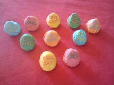 Candie heart Fortune cookies Personalized Fortune Cookies, Cat Love, Easter Eggs, Candy, Heart, Sweets, Candy Bars, Hearts, Chocolates