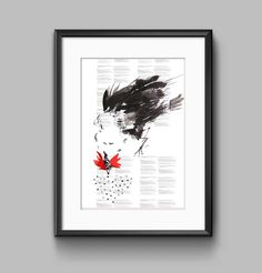 Rooster watercolor art print. Digital Download Poster. Chinese cock on the background of the code Internet page. Wall decor. by successo on Etsy