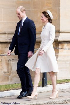 This is the first time the Duke and Duchess have taken part in the Easter Service at St. George's. They were among many royals enjoying the sunshine as they walked to the Chapel. Below you can see Princesses Eugenie and Beatrice; as well as Lady Louise and Viscount Severn, accompanying their parents, the Earl and Countess of Wessex. CPNA/ i-Images / Polaris