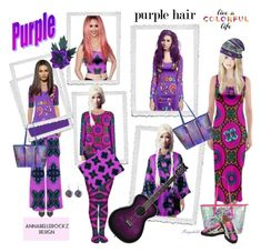 """""""New Contest is soon up💜 Annabellerockz 💜 2018 💜"""" by ragnh-mjos ❤ liked on Polyvore featuring purple and annabellerockz"""