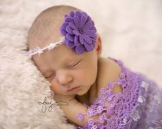 A personal favorite from my Etsy shop https://www.etsy.com/listing/249185989/purple-tieback-newborn-photography-prop