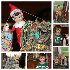 Elf on the Shelf - silly string fight!