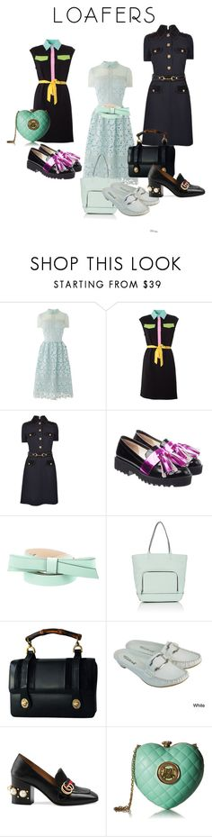 """#loafers"" by glamourgrammy ❤ liked on Polyvore featuring Moschino, Gucci, Anouki, Kate Spade, Milly, DimeCity and Love Moschino"