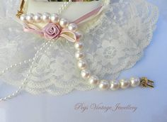 VINTAGE RICHELIEU Signed Faux Pearl by PegsVintageJewellery