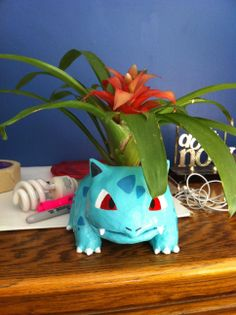 Here's the Ivysaur flower pot I just finished, tell me what you think! - Imgur