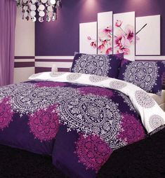 Oskana Purple Quilt DOONA Duvet Cover Set Apartmento Bedding Paisley Gatsby New | eBay