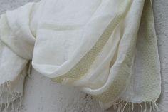 handwoven linen stole