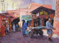 Patrick Martin, Pastels, Painting, Artists, People, Watercolor Painting, Morocco, Projects, Painting Art