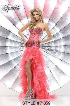 Style #71359  #prom #dress #promdress #ruffles #pink #sparkle