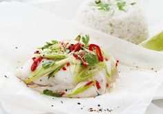 Fish Parcels with Coconut Rice