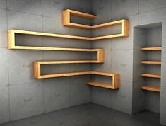 wood corner shelf ideas 3