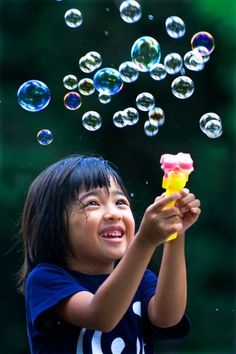 Happy with bubbles - Photograph at BetterPhoto.com