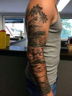 sleeve tattoo black and grey volkswagen - Google zoeken