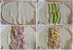 strudel di zucchine procedimento