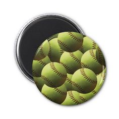 Yellow Softball Wallpaper Refrigerator Magnet - $4.15 - Yellow Softball Wallpaper Refrigerator Magnet - Multiple layers of softballs! A yellow softball isolated. Fastpitch softball league ball with natural shading. ASA League players, coaches, moms, dads, sports enthusiasts love our products!