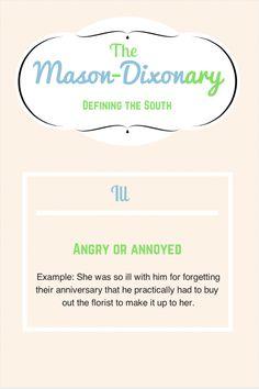 Mason-Dixonary: ill