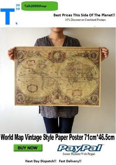 Old World Globe Map Matte Brown Paper Poster Retro Vintage Decor Description: brand new and high quality Style: Vintage Retro Non water-proof Material: Matte kraft paper x x C. Vintage Walls, Vintage Decor, Retro Vintage, Vintage Style, Retro Home Decor, Home Wall Decor, Bedroom Decor, World Globe Map, Old Globe