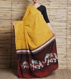 Red Batik Cotton Dupatta