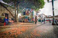 Plaza del Chorro, La Candelaria Bogota by Guillermo Herrera on Street Art, Street View, Plaza, Santa Fe, Shots, City, Hdr, Roads, Image