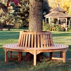 Circular Bench - Tree Bench - Teak Tree Seating - Country Casual