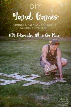 DIY Yard Games- I love this!