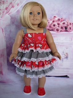 Ruffled Sundress fits American Girl Doll and 18 inch dolls