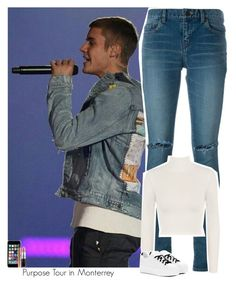 """""""Celebrity Life: Purpose Tour in Monterrey"""" by jhessicakauana ❤ liked on Polyvore featuring Yves Saint Laurent, WearAll, Kenzo, Off-White and MAC Cosmetics"""