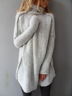 Fashion Casual Long Sleeve  Knit  Top Sweater