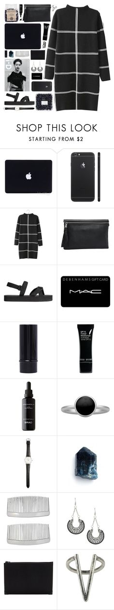 """DAY WEAR - BLOCKED // YOINS"" by pretty-basic ❤ liked on Polyvore featuring H&M, MAC Cosmetics, Bobbi Brown Cosmetics, Pieces, Ole Mathiesen, John Lewis, Alexander Wang and The 2 Bandits"