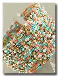 Multi Strand Multi Colored Seed Bead #Bracelet www.secretgardengems.net