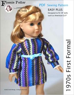"""1970s First Formal 18"""" Doll Clothes"""