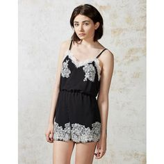 Hearts and Bows Black Yessica Lace Trim Playsuit | ARK Clothing #festival #cami #playsuit #90s