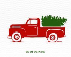 truck tree retro vintage winter holiday svg,merry christmas,Christmas SVG Cutting File Svg, CriCut F