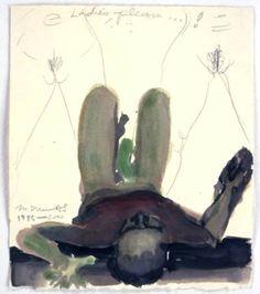 'Ladies, Please' -  1995-2000 - by Marlene Dumas (South African, b. 1953)