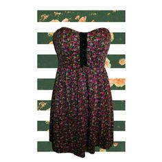 Forever 21 Floral Dress Sz S Adorable black Floral print dress. Corset style hook & eye upper with subtle sweetheart fit bust. Fitted elastic waist with babydoll flow. Perfect for 90's revival, festival, feminine, grunge wardrobes.   By Forever 21. Size Small (S). Good pre-owned condition with no holes, rips or stains.  No trades. Bundles and offers welcomed! Forever 21 Dresses Mini
