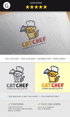 cat chef logo design - Animals Logo Templates