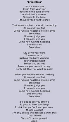 """Better Than Ezra """"Breathless"""" One of the best songs ever because  it's lyrics are poetry."""
