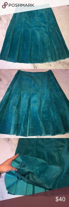 f573fb24b7 Spiegel • Leather Teal A Line Skirt Gorgeous teal leather a line skirt by  Spiegel.