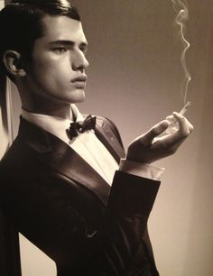 Gucci men's... I'm sorry no matter how good looking the man or how impeccably dressed a cigarette makes him repulsive...