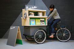 Bike book-shop. Needs some sort of umbrella/canopy, though...