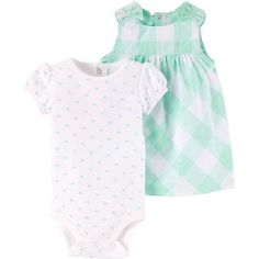 4f8a916b418 Child of Mine by Carter s Newborn Baby Girl Bodysuit and Dress 2 Piece Set Carters  Baby