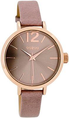 uhr von the horse rose gold rosa lederarmband watch. Black Bedroom Furniture Sets. Home Design Ideas