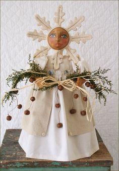 Noelle, A Primitive Snowflake Doll
