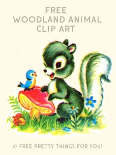 Images: Free Vintage Woodland Animal Clip Art - Free Pretty Things For You