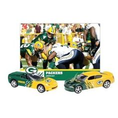 Green Bay Packers 2008 NFL Limited Edition Dodge Charger and Chevrolet Corvette Die-Cast Collectibles with Team Card by Upper Deck $11.61